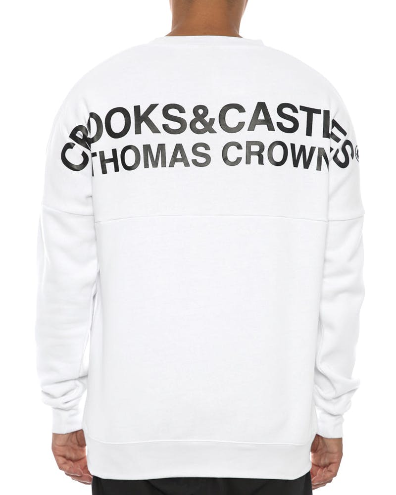 Thomas Crown Dolman Crew White