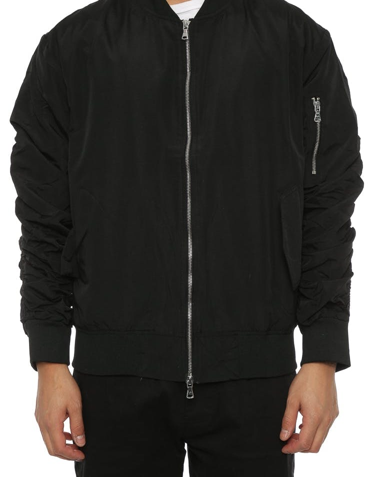Lifted Anchors Bird Bomber Jacket Black