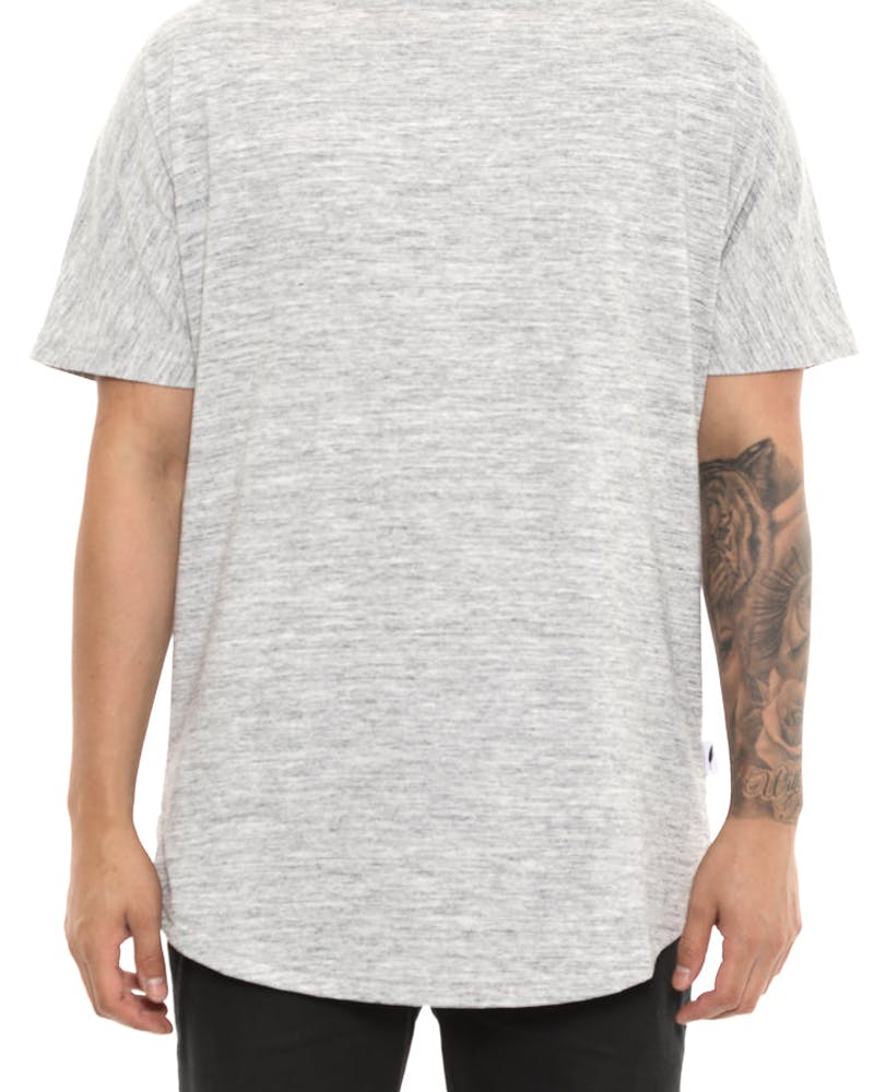 Publish Scallop Short Sleeve Tee Grey Heather