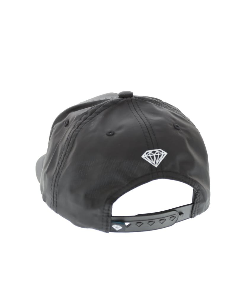 Diamond Supply OG Script Satin Snapback Black