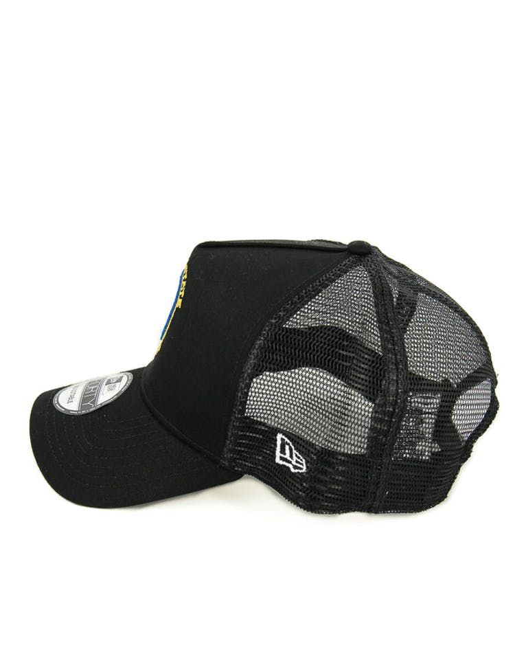 New Era Warriors 9FORTY A-Frame Trucker Black/yellow