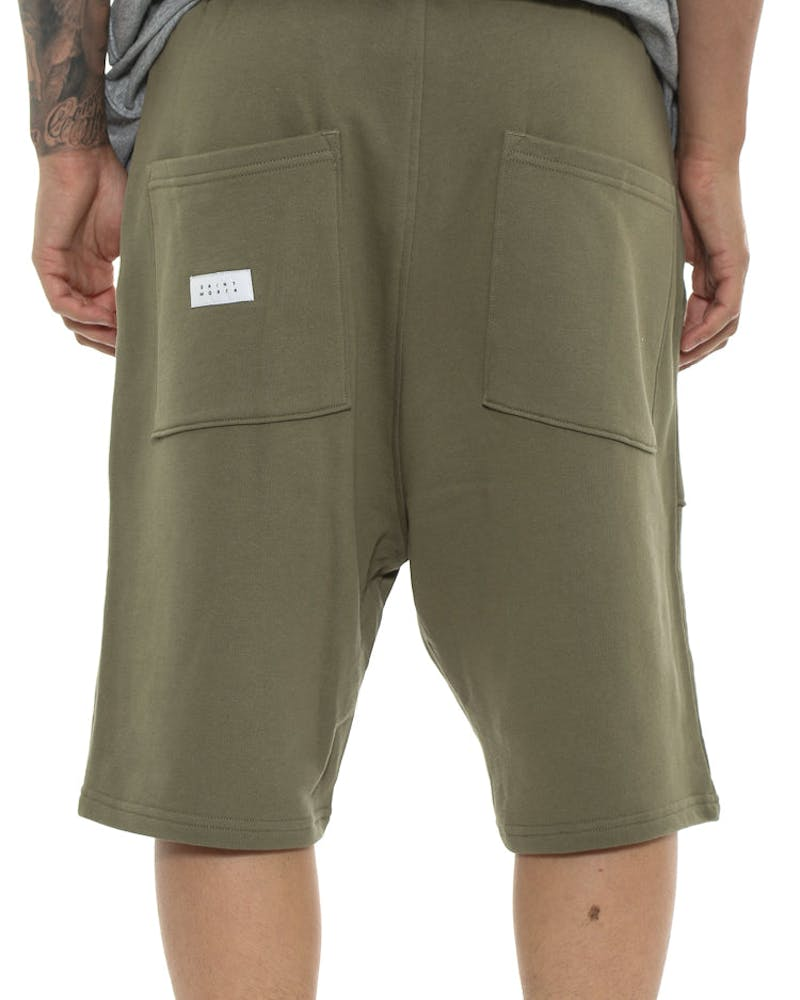 Saint Morta Dropcrotch Short Pale Green