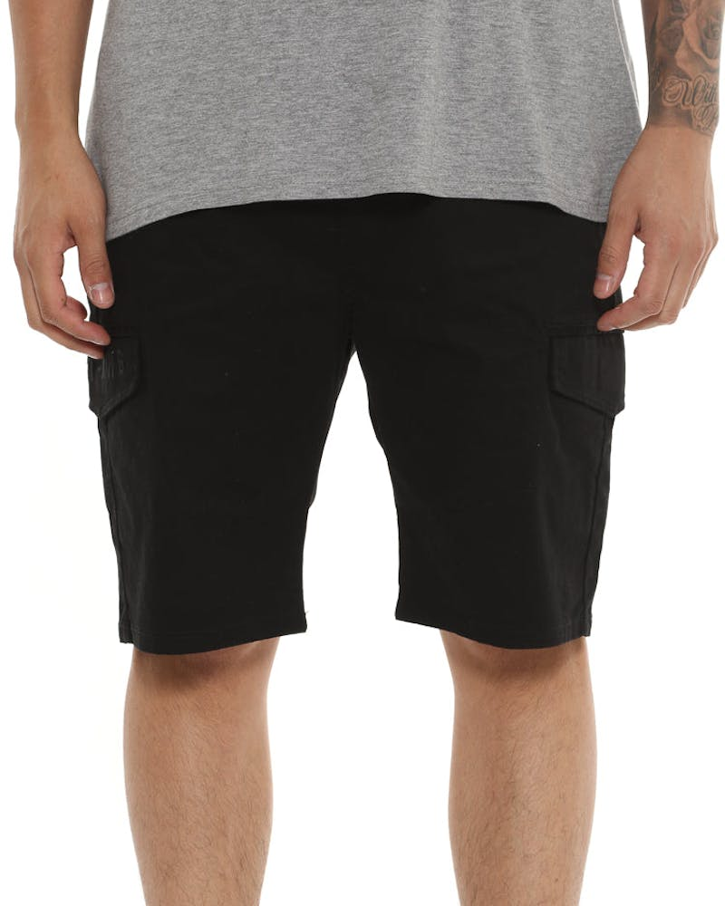 Last Kings Cargo Shorts Black