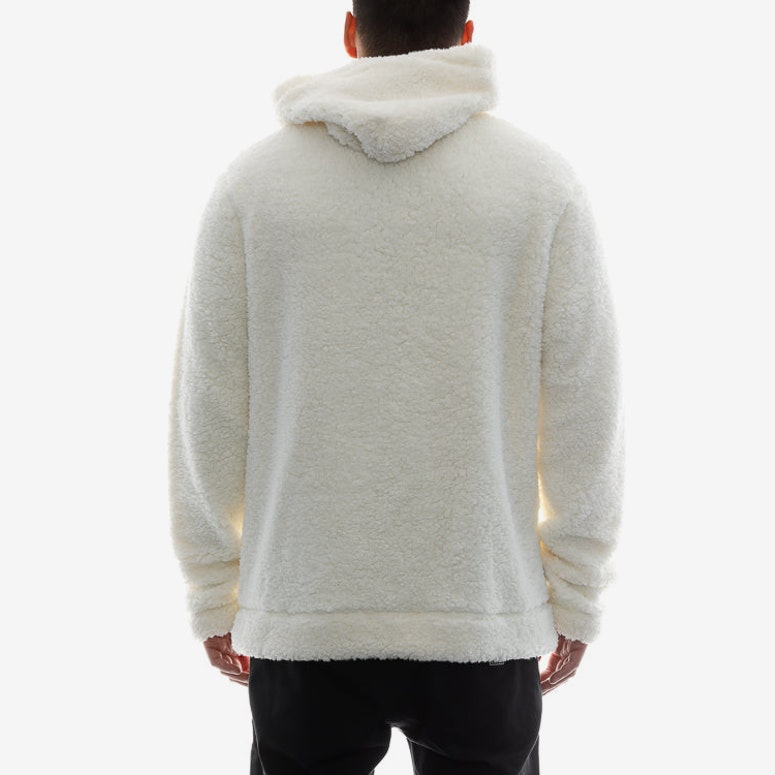 10 Deep Sherpa Fleece Hood Off White