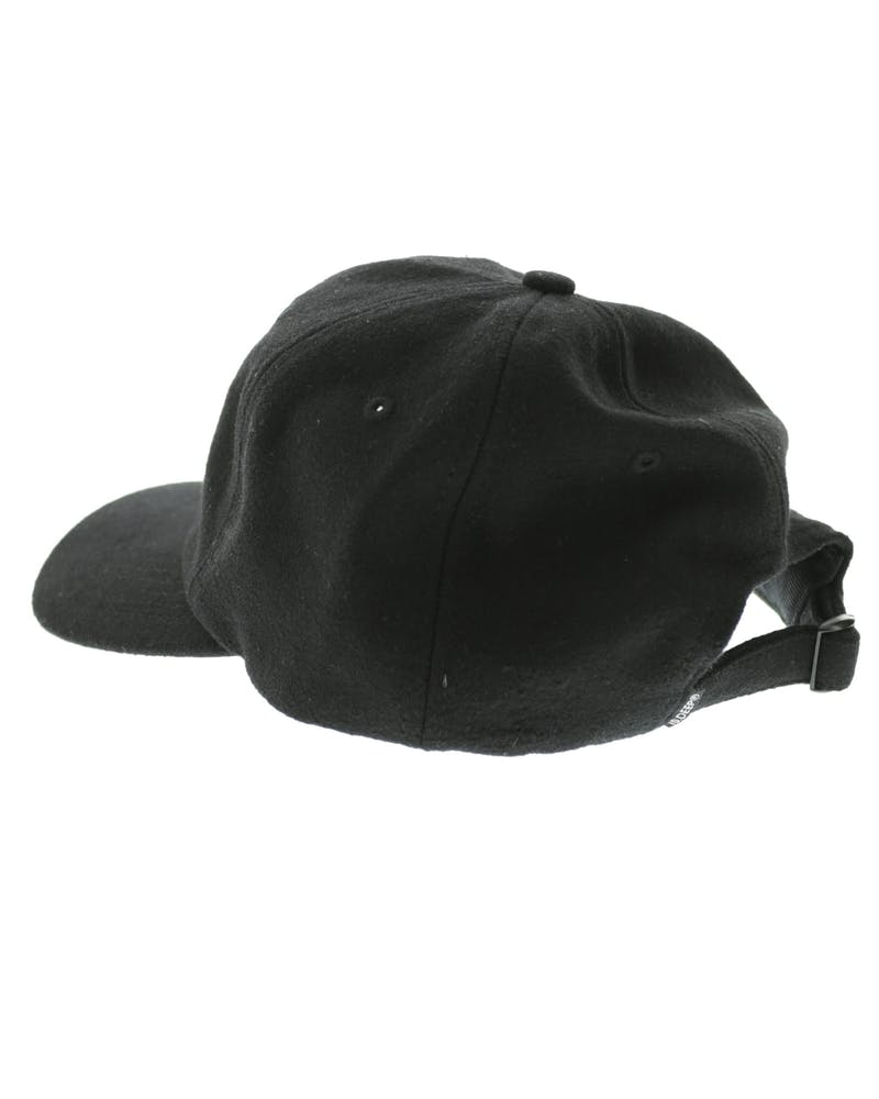 3 Strikes Flannel Strapback Black