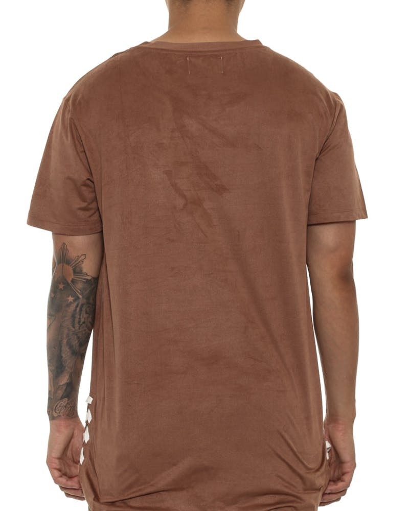 Saint Morta Suede Drawcord Tee Brown