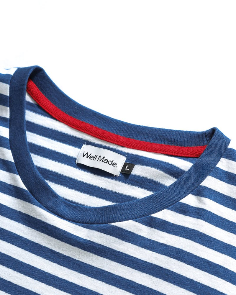 Well Made Maradona YDS Tee Navy/White