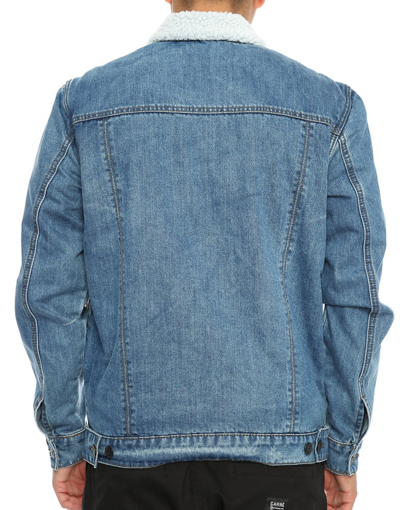 Santa Cruz Seacliff Sherpa Denim Jacket Blue