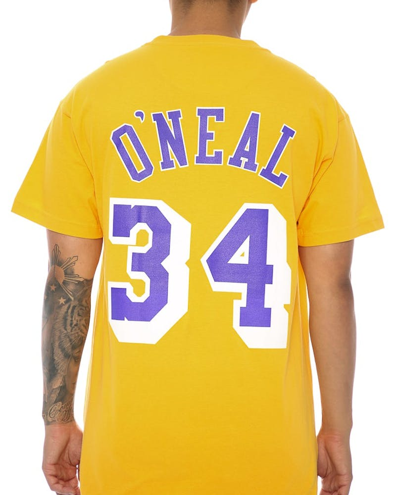 Mitchell & Ness Lakers O'Neal 34 Tee Yellow