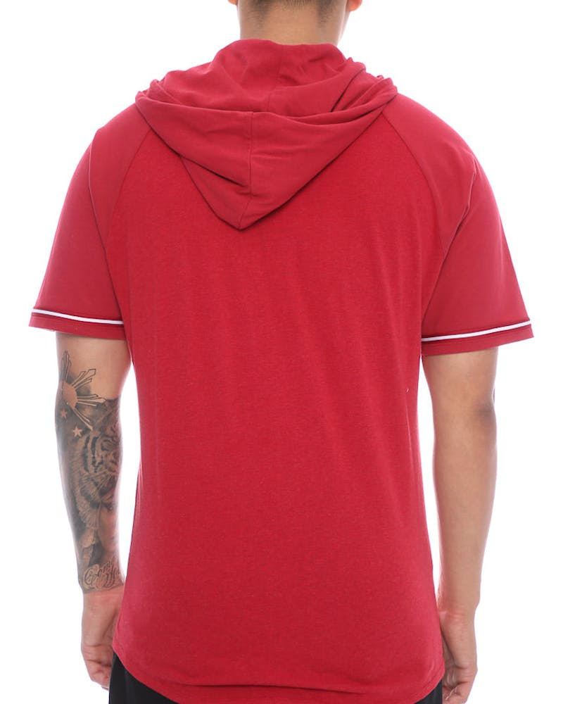 Mitchell & Ness Bulls Keeping Score Short Sleeve Hood Red