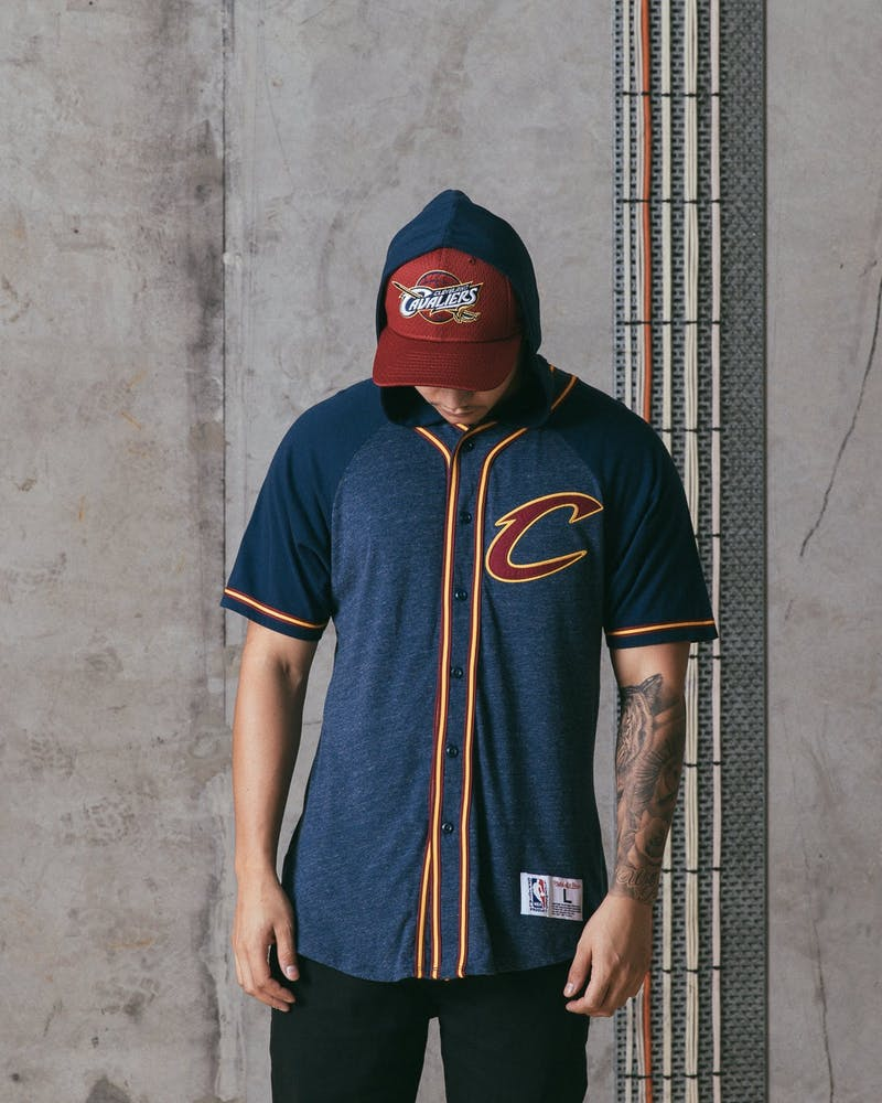 Mitchell & Ness Cavaliers Keeping Score Short Sleeve HD Blue