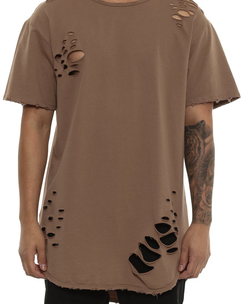 Saint Morta Slasher Distressed Tee Brown