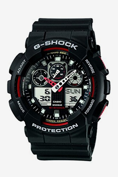 G-Shock GA-100-1A4 Ana/Dig Duo Black/Red