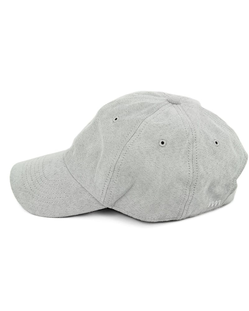 Well Made Take it Slow Suede Strapback Pale Grey