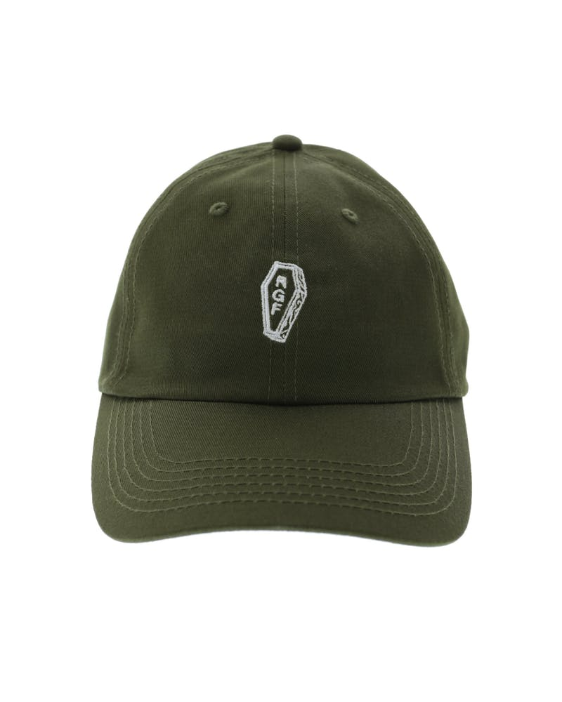 Rats Get Fat Coffin Polo Strapback Olive