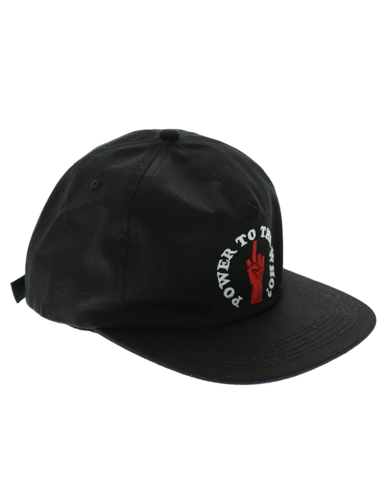 Middle Man 5 Panel Strapback Black