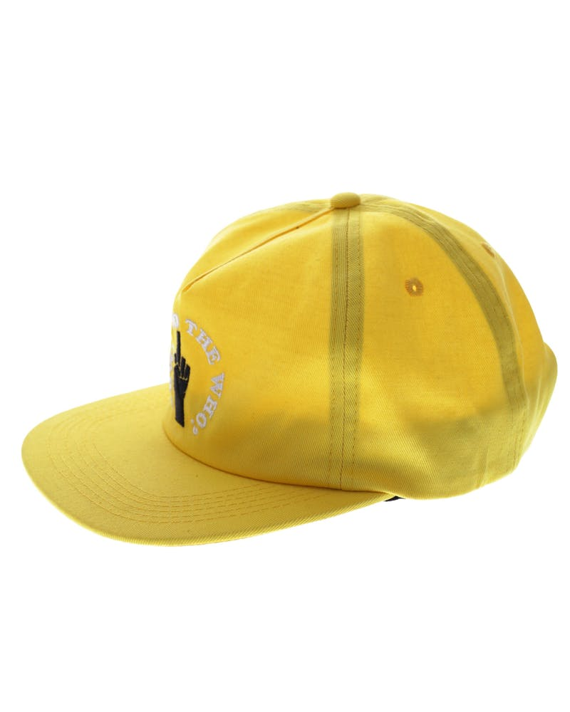 Middle Man 5 Panel Strapback Yellow