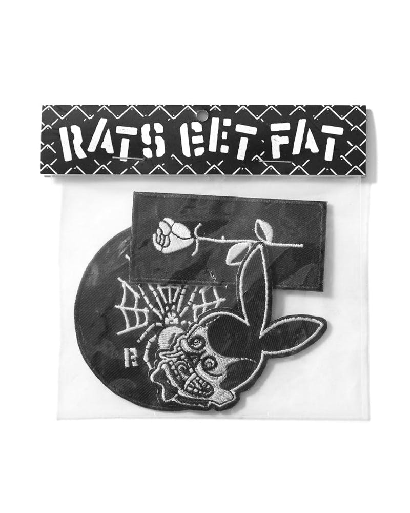 Rats Get Fat Iron On Patch Bag 2 Multi-coloured