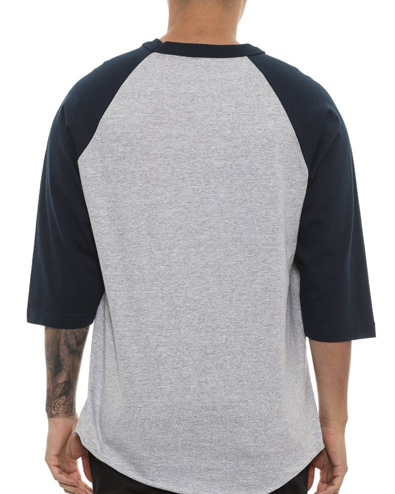 Draft Day Seduction Raglan Tee Grey/navy