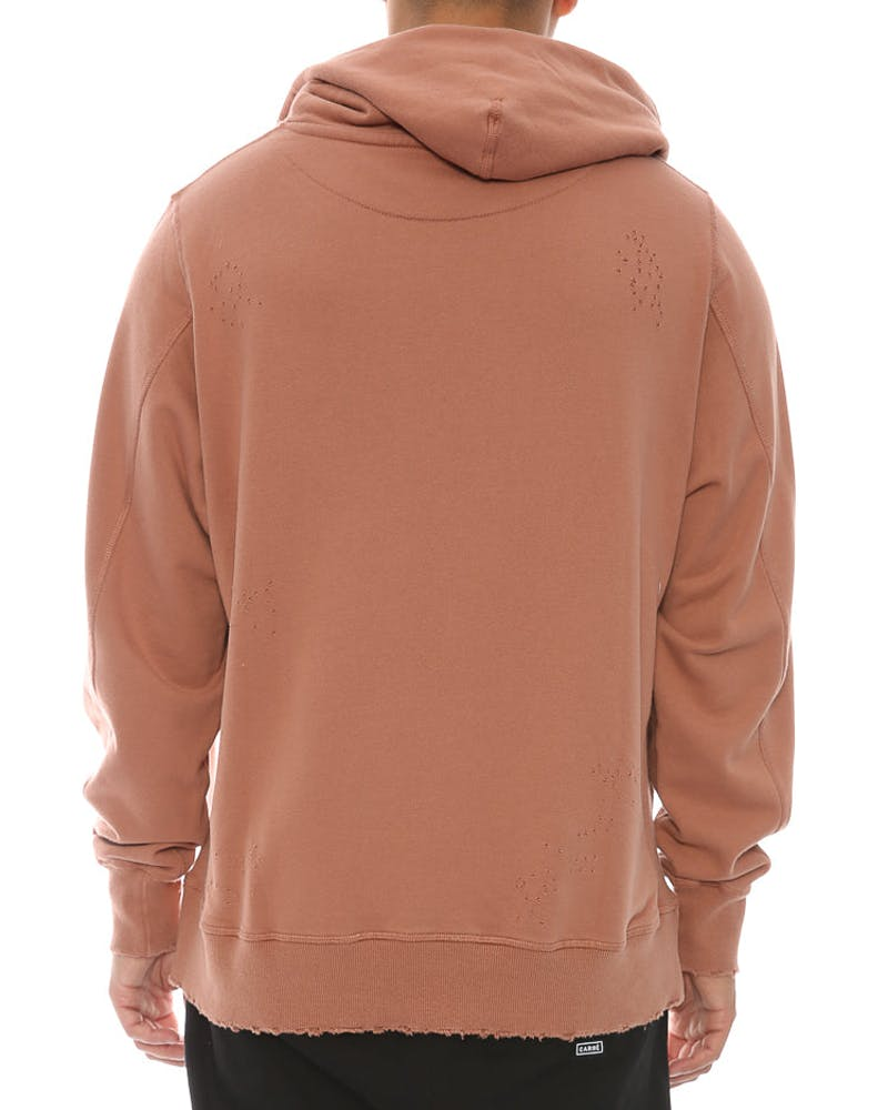 Civil Regime Blasted Pullover Hood Salmon