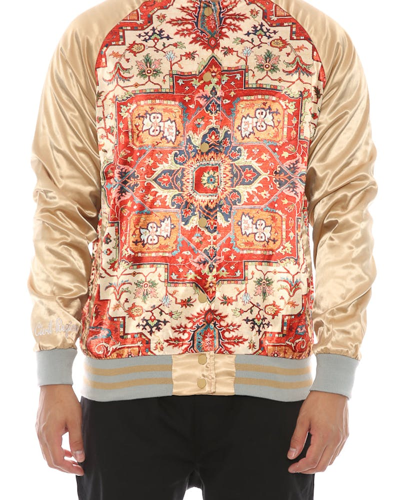 Civil Regime Kesh Hendrix Satin Jacket Cream/red