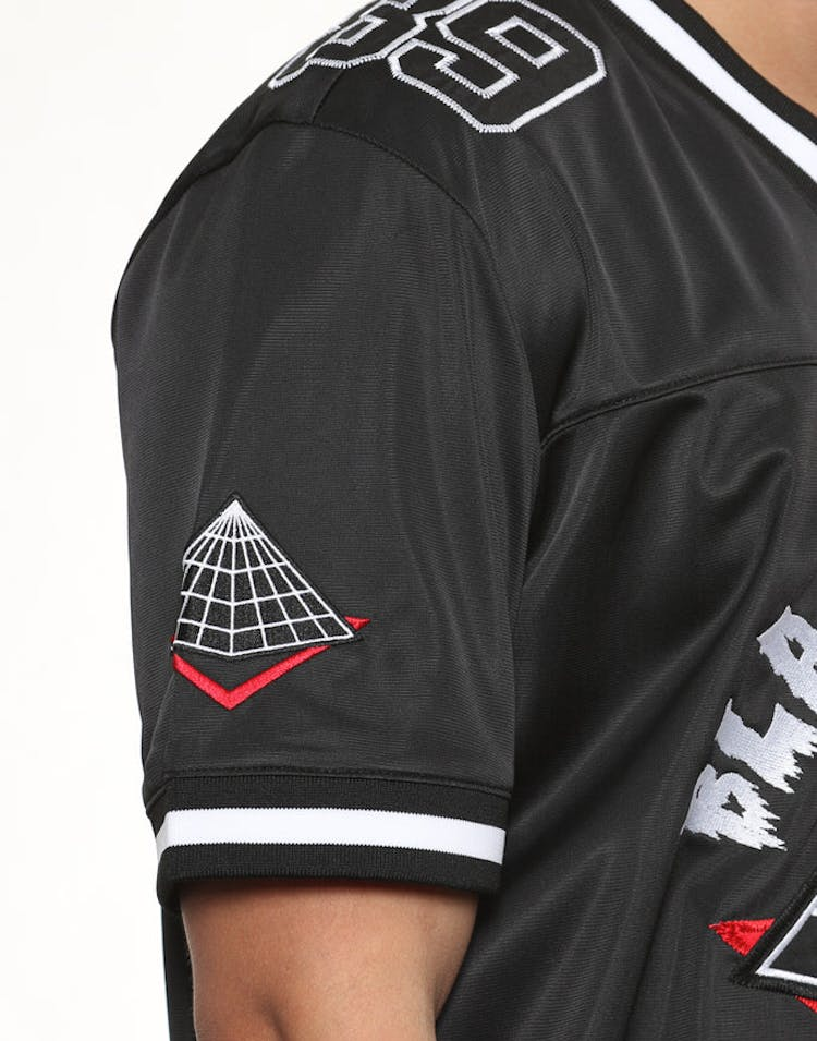 Black Pyramid Home Team Football Jersey Black