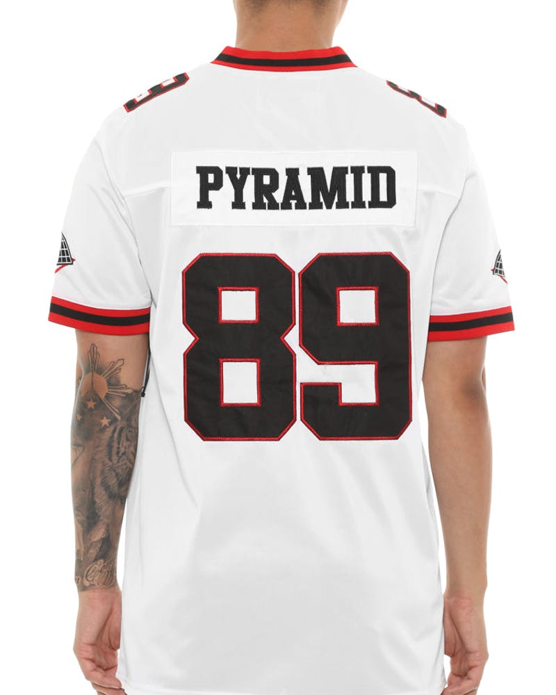 Black Pyramid Home Team Football Jersey White