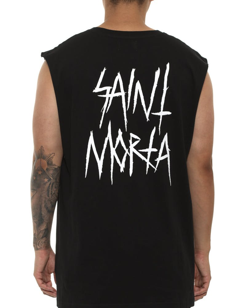 Saint Morta Inscribe Oversize Muscle Tee Black