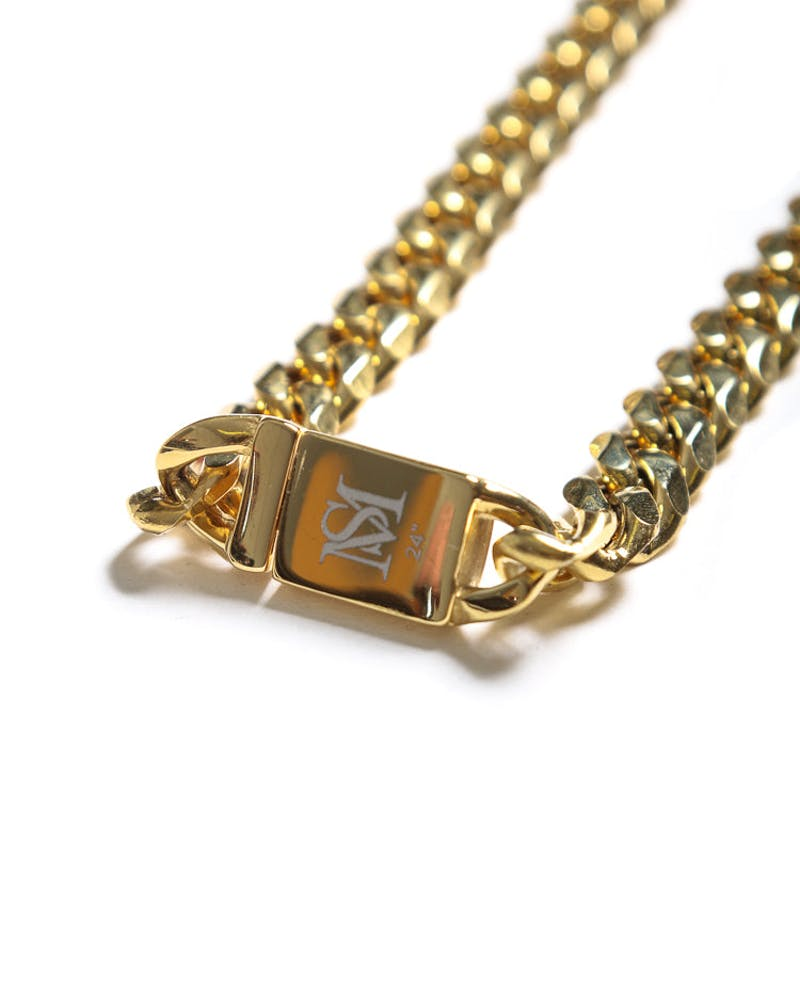 "Saint Morta Cuban 24"" 10MM Chain Gold"