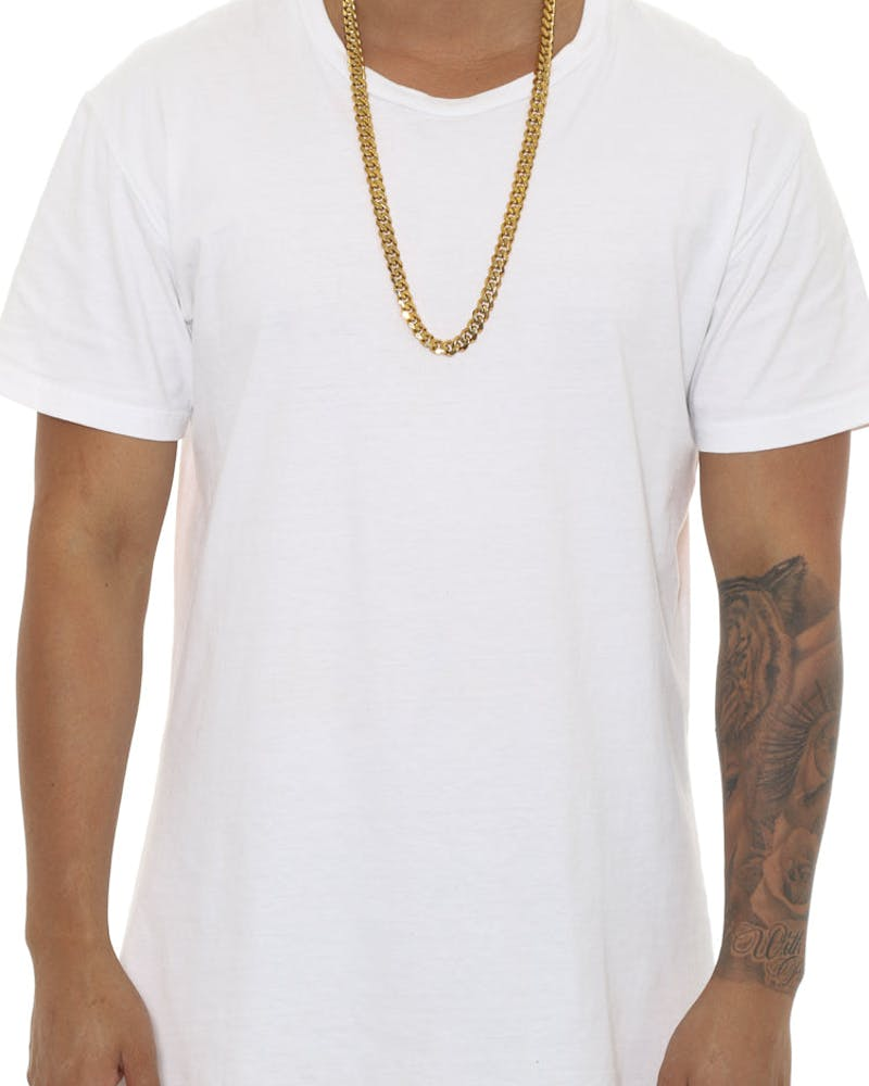 "Saint Morta Cuban 30"" 10MM Chain Gold"