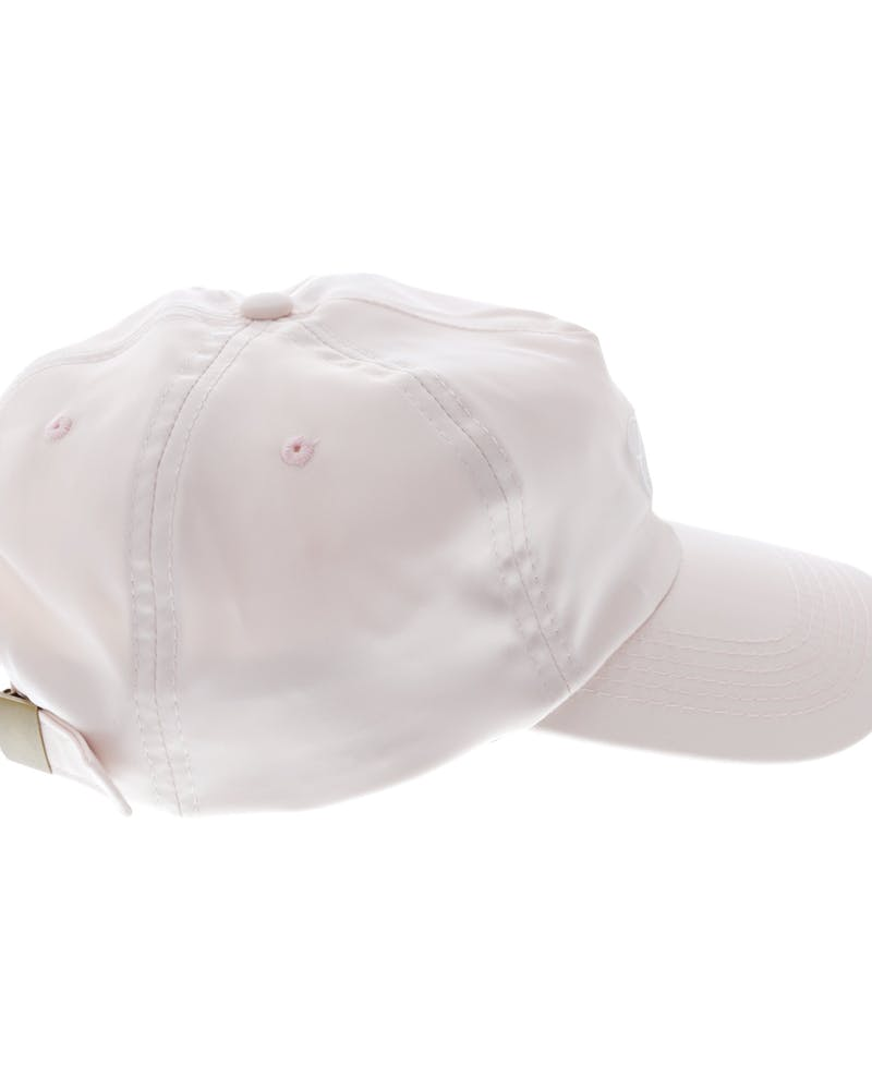 Carré Staple Script Satin Strapback Peach/White