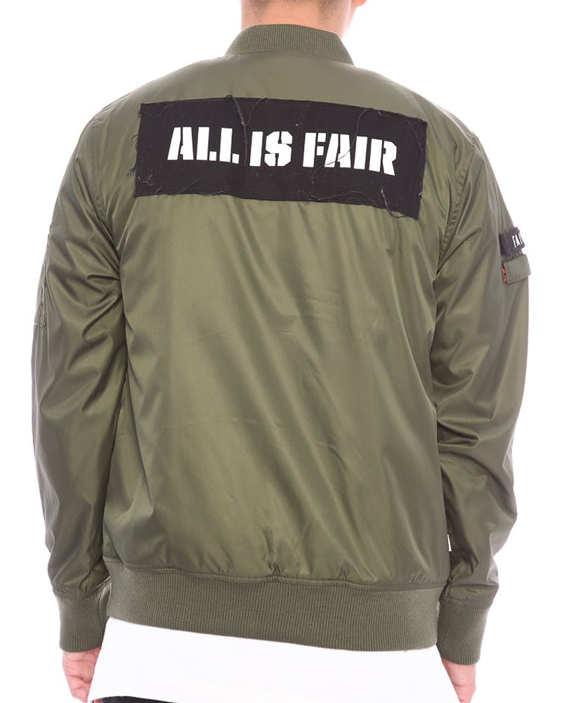 Fairplay Braeden Bomber Jacket Olive
