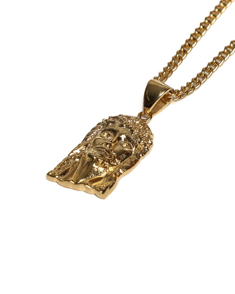 Veritas Jesus Piece Pendant Chain Gold