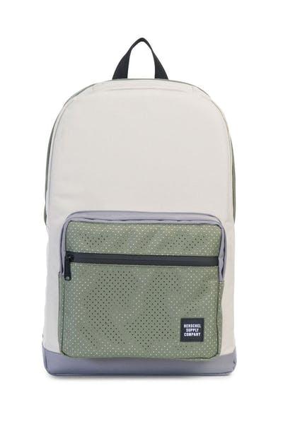6e8956830 Herschel Supply Co Pop Quiz Rubber Aspect Backpack Cream/Army ...