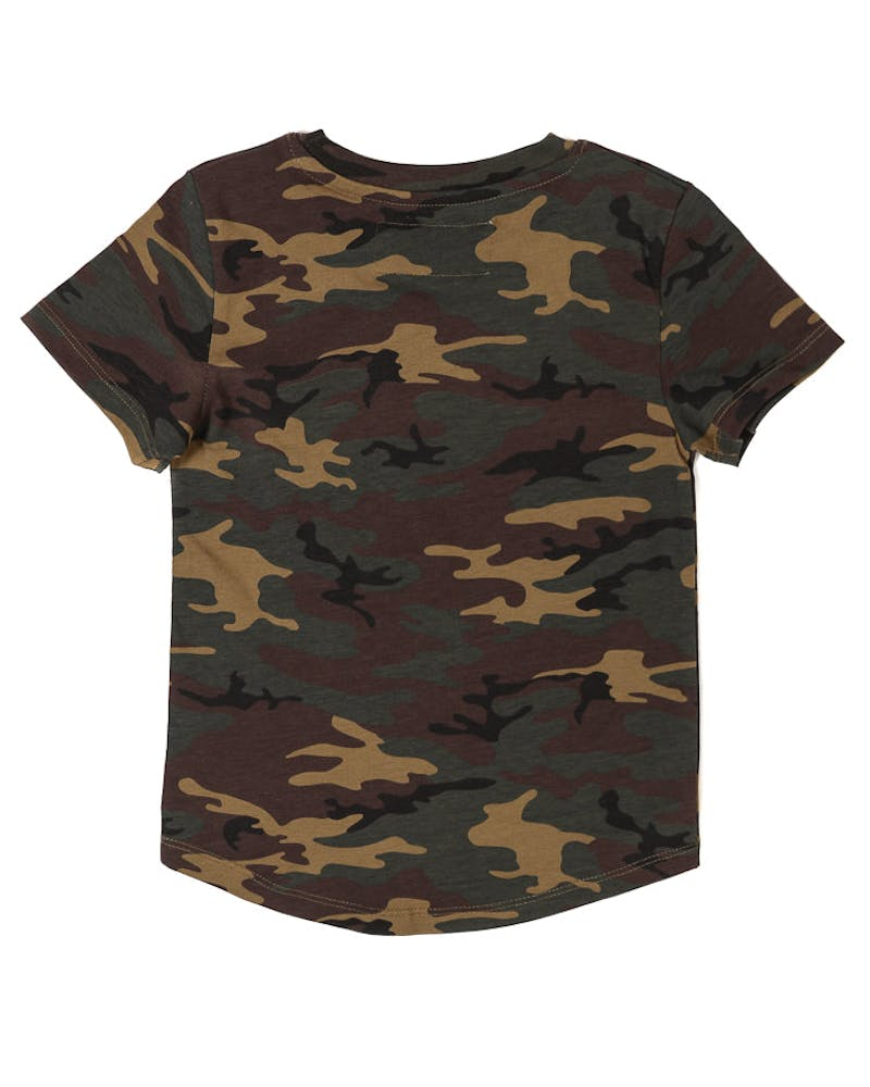 Lil Homme Young Christ Short Sleeve Tee Camo