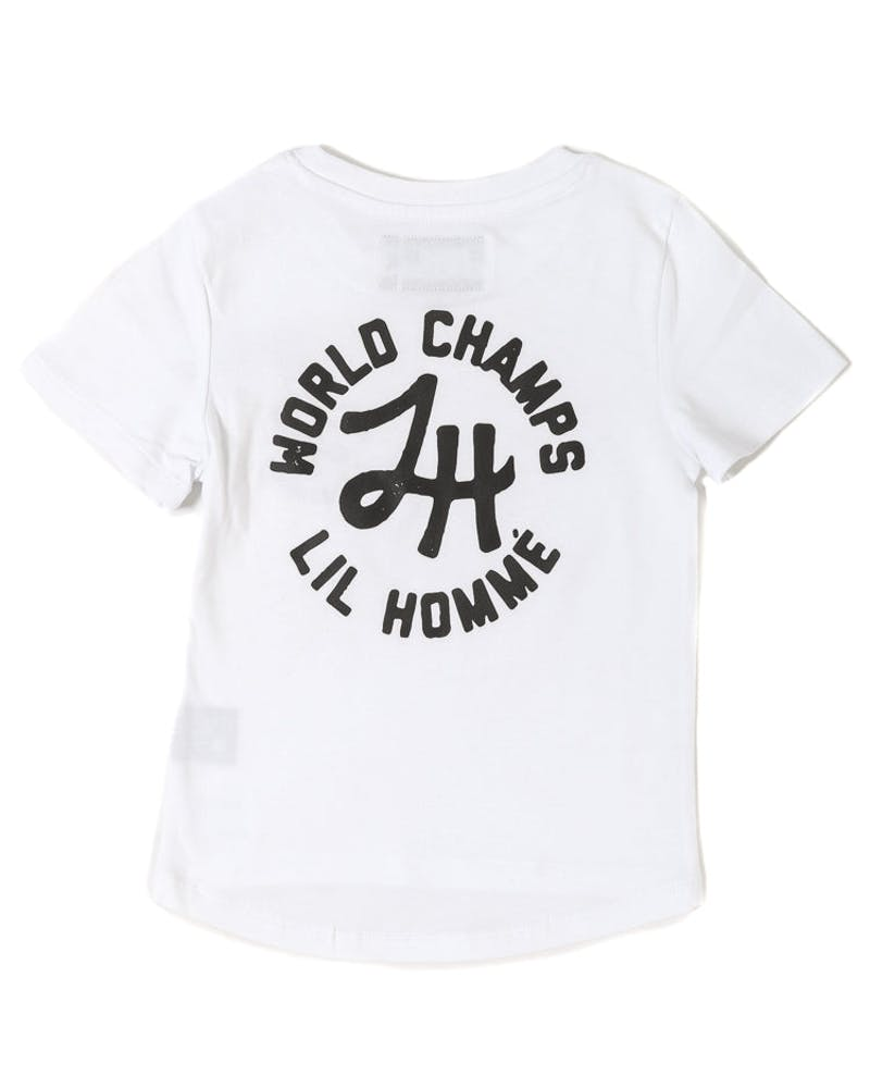 Lil Homme World Champs Short Sleeve Tee White