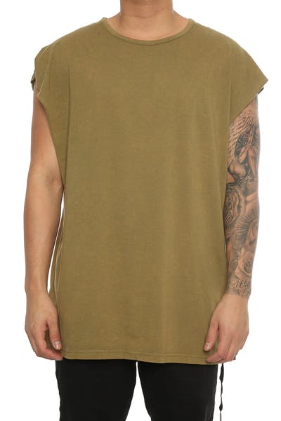 Team Cozy Osbourne Muscle Tee Olive