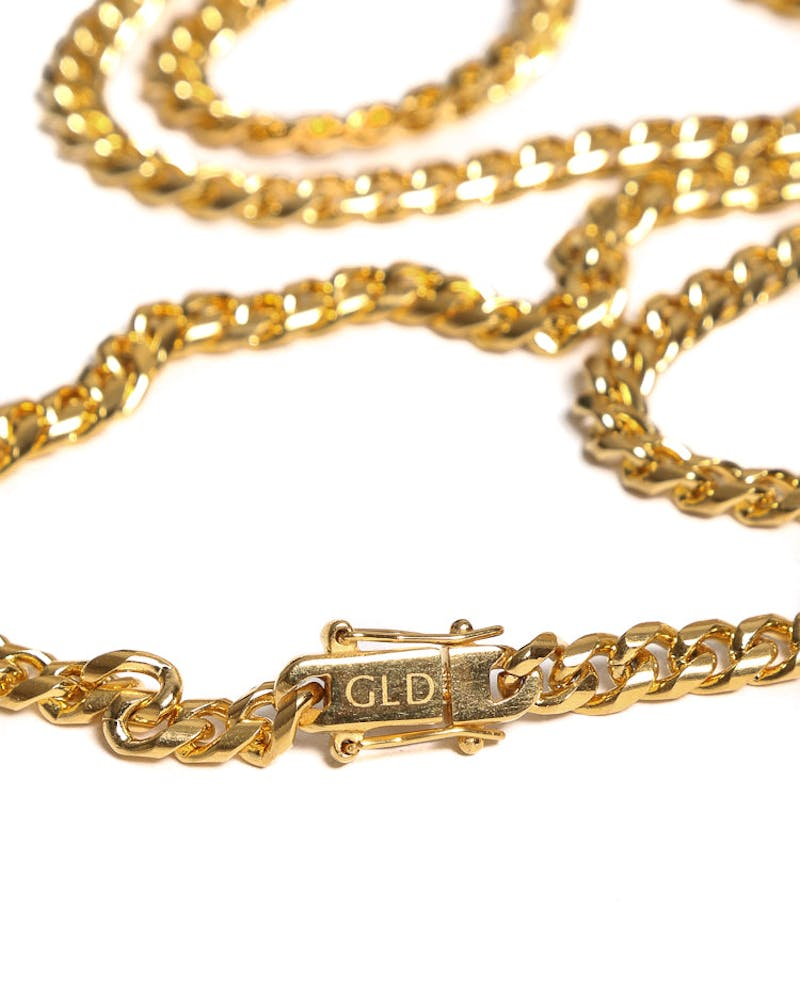 "The GLD Shop Miami Cuban Link Chain 28"" Gold"