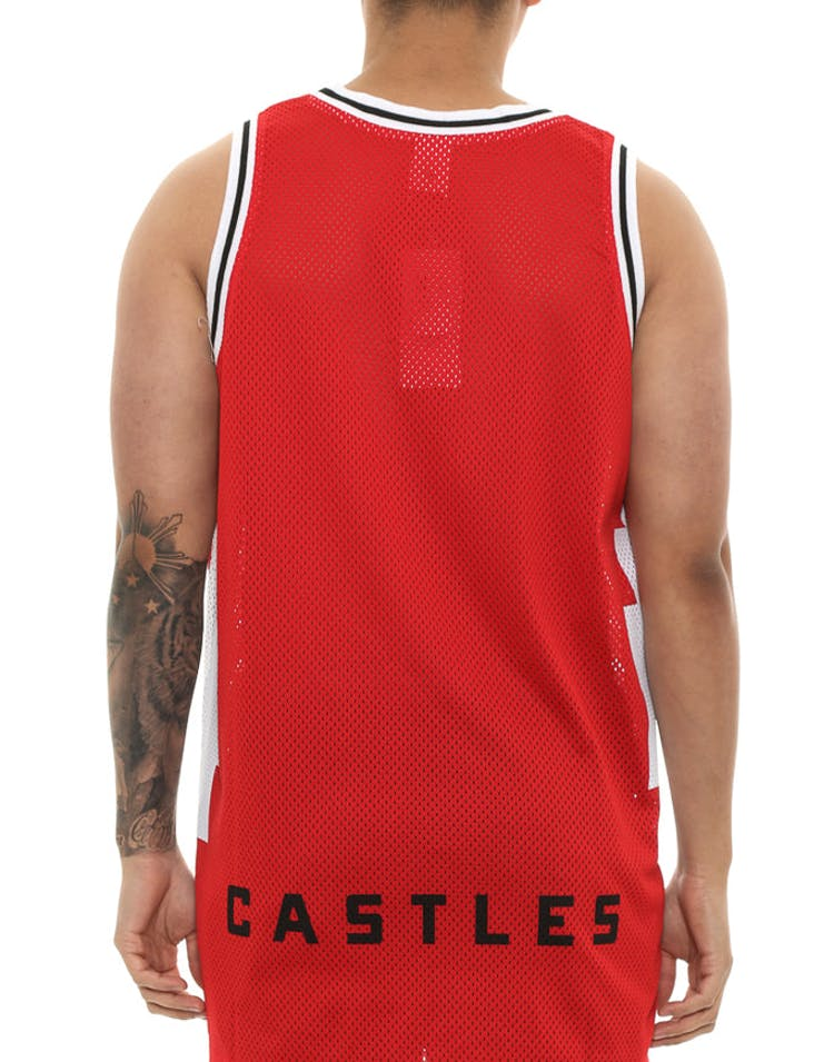 8afbb18b7 Crooks & Castles Tribal Basketball Jersey Red – Culture Kings NZ