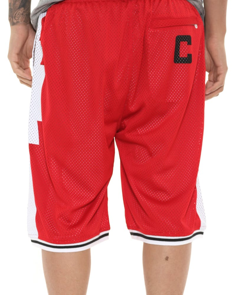 Crooks & Castles Tribal Basketball Shorts Red