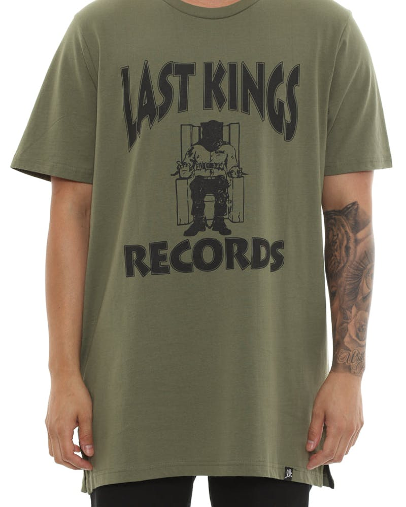 Last Kings Record Tee Olive