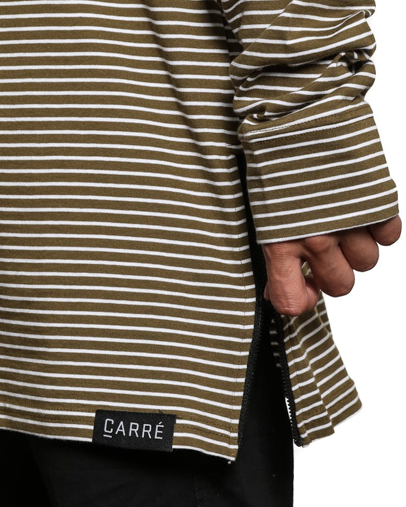 Carre Napoleon 2 Long Sleeve Tee Olive/white
