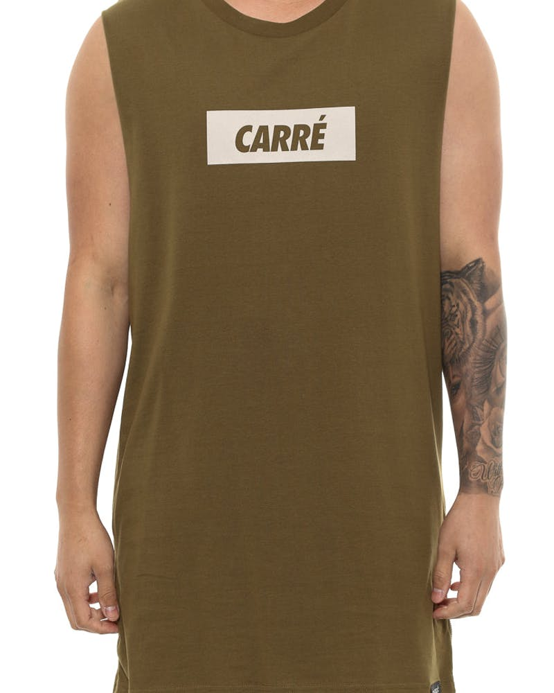Carré incline Capone 2 Muscle Tee Olive