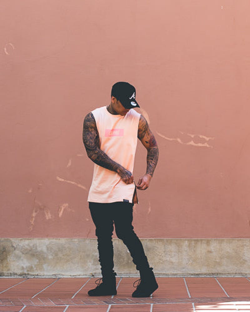 Carré incline Capone 2 Muscle Tee Peach