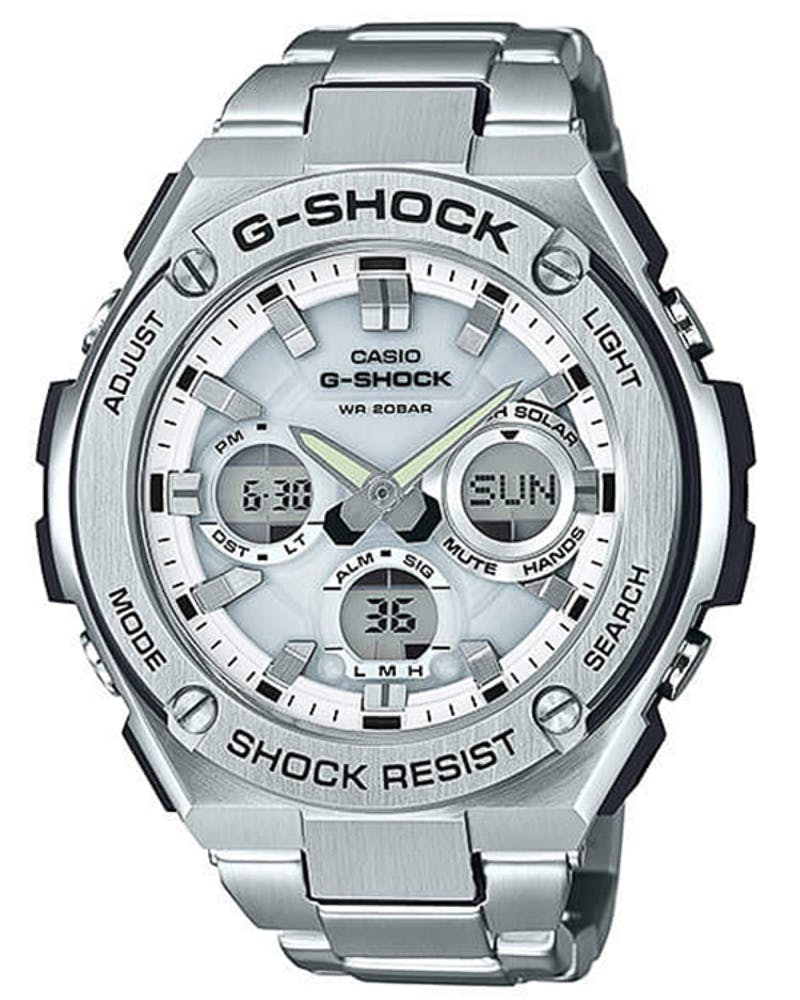 G-Shock GSTS110D G-Steel Series Silver/White