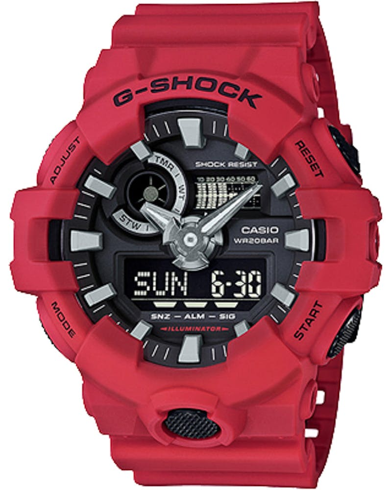 G-Shock GA700 Analog/Digital Red