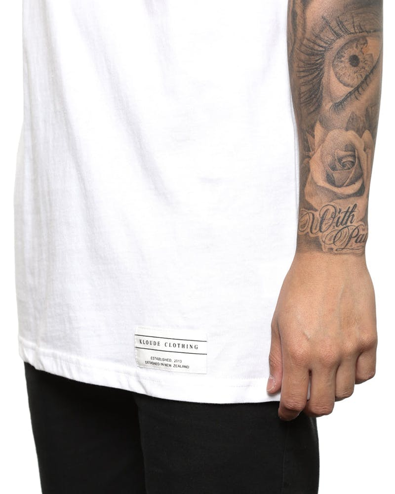 Kloude Clothing Sci Fi Tee White