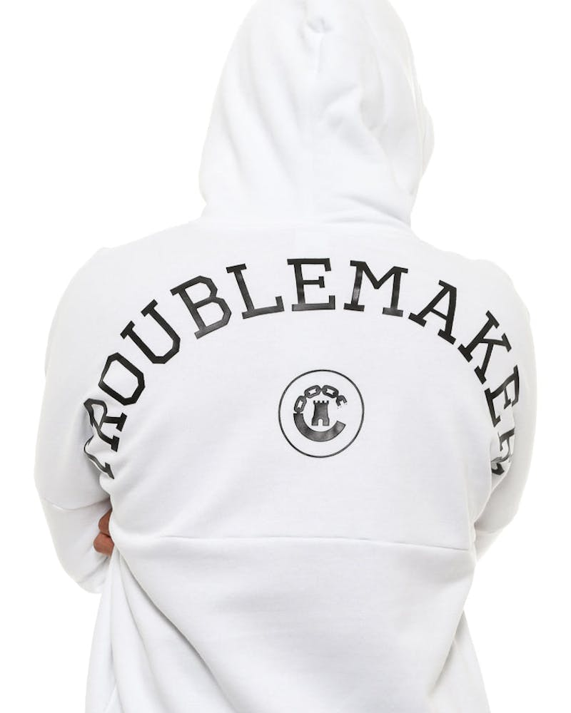 Crooks & Castles Troublemaker Hood White