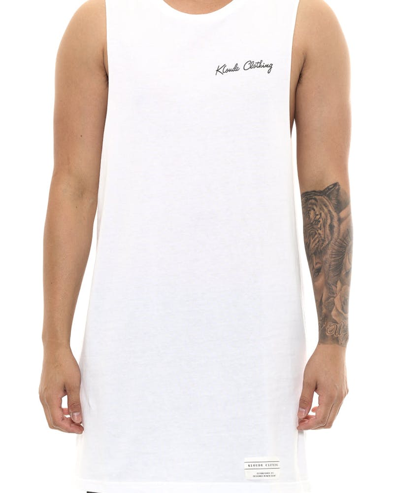 Kloude Clothing Beached Whale Tank White