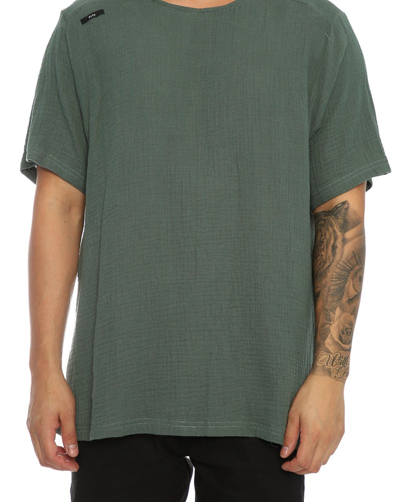 Shaun Johnson The Structured Tee Army Green
